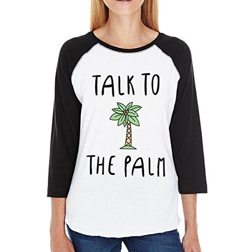 Palm a maniche donna da da corte The Talk Maglietta Stampa To donna 365 monocolore gxOA4nnwR