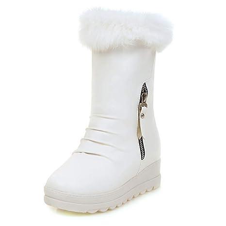 SHANGWU Stivali da Neve da Donna Impermeabile Antiscivolo