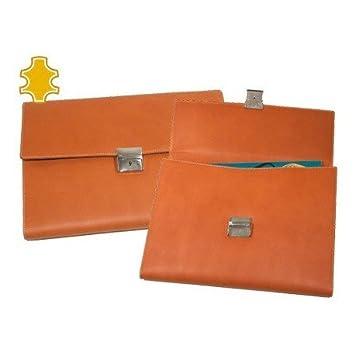 CARTERA PORTADOCUMENTO ARTESANIA DE PIEL MEDIDAS 36,5X27X2,5 CM.: Amazon.es: Oficina y papelería