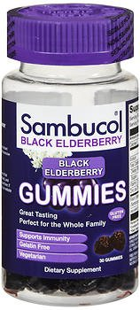 Sambucol Black Elderberry Dietary Supplement Gummies - 30 ct, Pack of 2 by Sambucol
