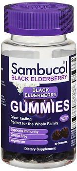 Sambucol Black Elderberry Dietary Supplement Gummies – 30 ct, Pack of 3 For Sale