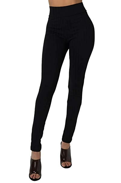 fashion style new images of big clearance sale AKIRA Women's Lightweight Ribbed Knit High Waist Leggings at ...