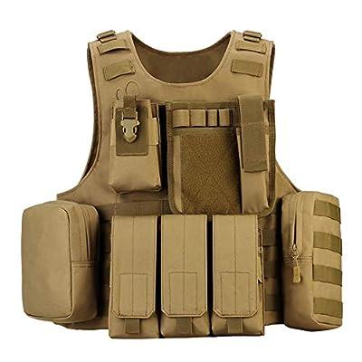 outdoor plus Amphibious Module Tactical Vest Airsoft Tactical Vest Suitable for Paintball Secret Service Operations and Military Fans 1000D Nylon