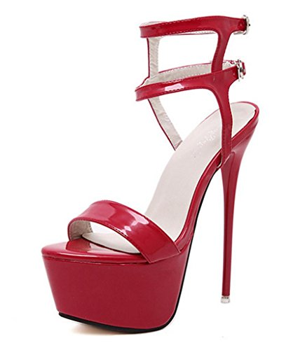 Shoes Women Cross Toe Stiletto Shoes Pumps Slip Sandals Womens Heels High Classic Pointed On Court High red Strap Quality yu Shoes 38 Lh 5w4qPOx