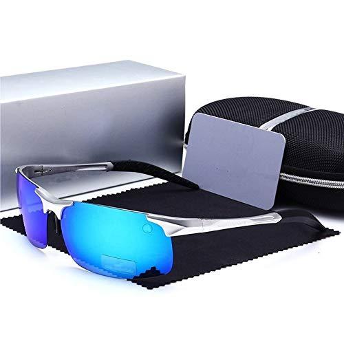 de de Gafas Conduce Polarizador Deportivas y Mjia equitación marrón Polarizado Hombre blue Aluminio magnesio Deportes sunglasses Que H1YqWwRxO