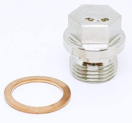 2pcs BelMetric M10X1 Flanged A2-50 Stainless Steel Hex Head Corrosion Resistant Plugs DIN 910 for Machinery and Fittings Sealing Washers Included DP10X1.0HSS