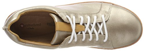 Rosa Clarks Basses gold Femme Metallic Sneakers Amberlee Or Rx44w5q