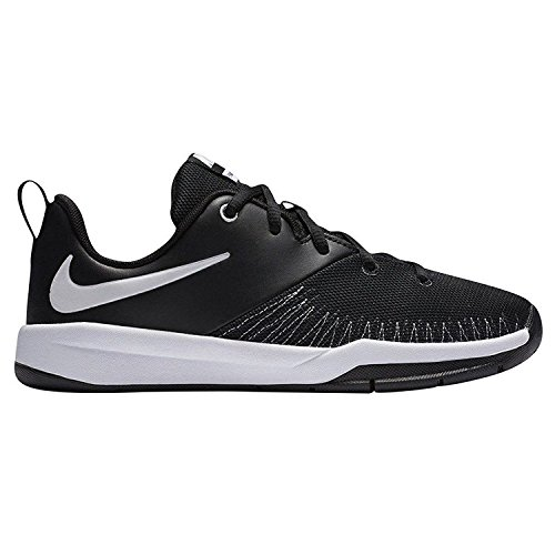 Nike Team Hustle D 7 Low (GS), Scarpe da Basket Uomo Bianco (Black / White) (Nero)