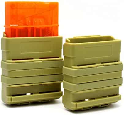 Hosim Mag Pouch by for Nerf Magazines - Fiber Reinforced Nylon Polymer For Durability - Secure Fit Positive Magazine For Quick Reload - MultiPosition (Army Green)