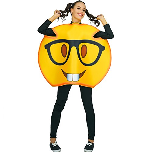 Adult Unisex Emoji Costumes Glasses 1 Size