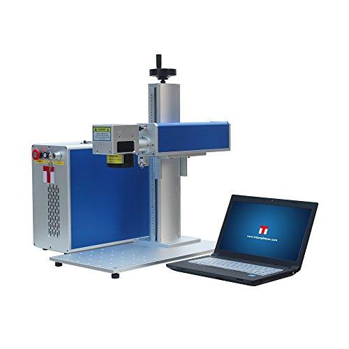 20W MOPA Fiber Laser Marking Engraving Etching Machine Maker & Rotary Metal & Non-Metal