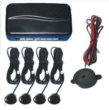 Black Rear Car Parking Reversing with 4 Sensor Buzzer Mini box Kit