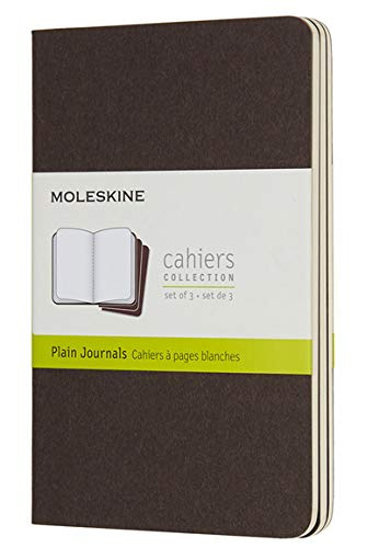 Set of 3 Moleskine Coffee Brown Extra Large Squared Cahier Journal Home & Garden Store