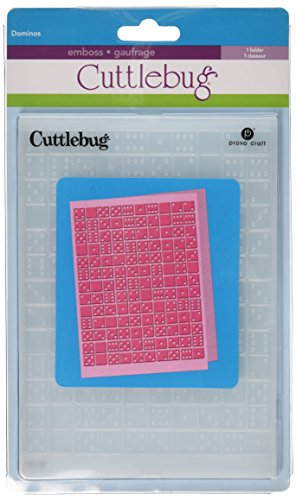 Cuttlebug 5-Inch-by-7-Inch Embossing Folder, Dominos