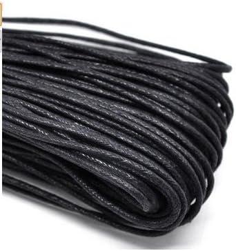 Black TO/_GOO Cuerda el/ástica Redonda 5mm x 10m