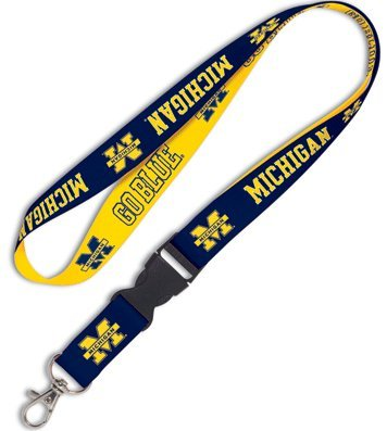 Michigan Wolverines Lanyard with Detachable Buckle