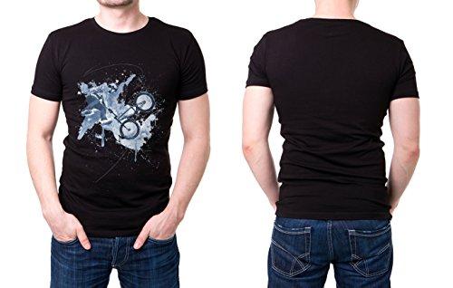BMX_I schwarzes modernes Herren T-Shirt mit stylischen Aufdruck