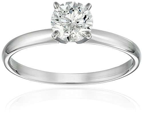 IGI-Certified 14k Gold Classic Round-Cut Diamond Engagement Ring (1.0 carat, H-I Color, SI1-SI2 Clarity)