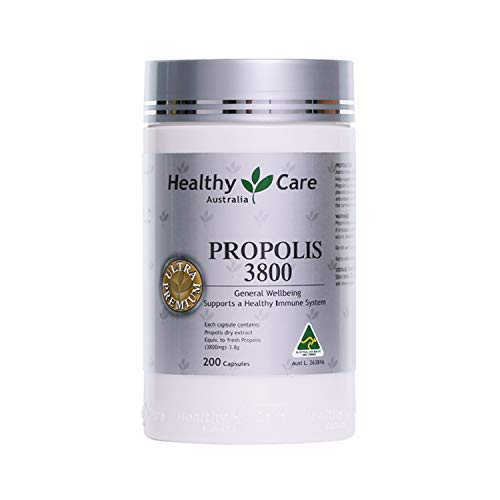 Healthy Care Australia Bee Propolis Extract 3800mg 200 Capsules Ultra Premium Support a Healthy Immune System (Best Vitamin Brand Australia)