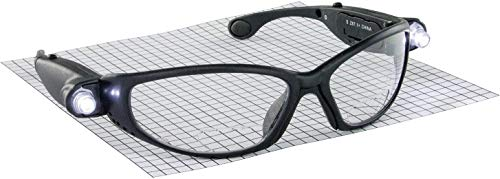 Hafele Safety Glasses With LED, Anti-Fog, Scratch Resistant, Magnification, UV protection (Diopter: 1.5)
