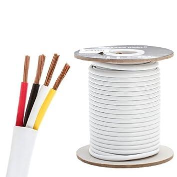Cable de altavoces para instalación en pared 16 AWG/4 C – 100 pies