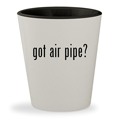 got air pipe? - White Outer & Black Inner Ceramic 1.5oz Shot (Hard Piped System)