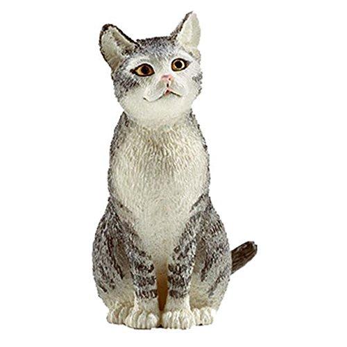 Schleich 13771 Cat Sitting Figurine, Black & White ^G#fbhre-h4 8rdsf-tg1343576