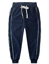 KISBINI Big Boy's Cotton Elastic Sweatpants Sports Pants Children