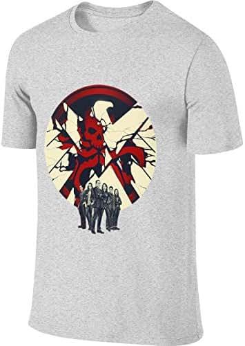 Kinggo Man Designed Breathable Tees Agents of Shield Logo T Shirts