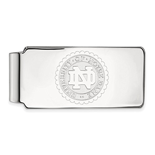 (Solid 925 Sterling Silver University of Notre Dame Crest Money Clip)