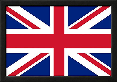 United Kingdom National Union Jack Flag Poster Print Framed