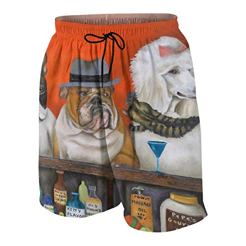 Animal Club Beer Bacon Howl Cat Dog Boys Quick Dry Beach Board Shorts Kids Swim Trunk Swimsuit Beach Shorts -