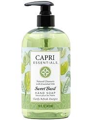 Capri Essentials Natural Hand Soap with Essential Oils – Sweet Basil, 16 oz.