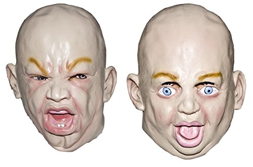 [Crying Baby Face Masks 2 Pack Assorted - Halloween Costume Accessory] (Party City Toddler Girl Halloween Costumes)