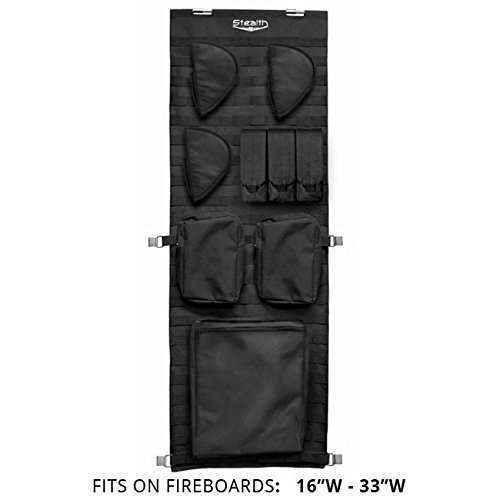 STEALTH MOLLE Gun Safe Door Panel Organizer Small - Fully Customizable & Adjustable Storage Solution