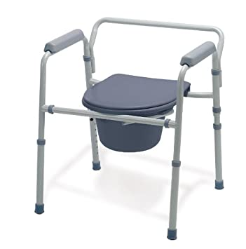 Medline Guardian G30213 1F Deluxe Bedside Commode/Toilet Seat/Safety Rails    All