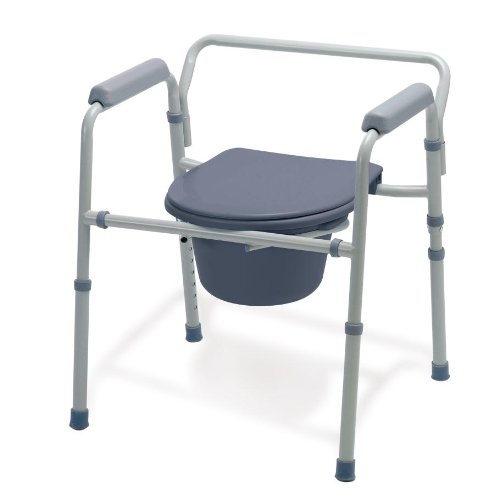Medline Guardian G30213-1F Deluxe Bedside Commode/Toilet Seat/Safety Rails - All in One