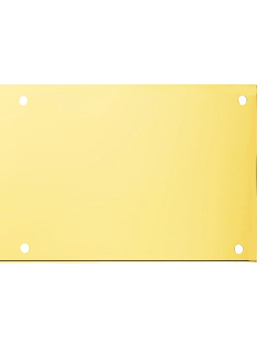 BRASS Accents A09-P0630-PVDADH 6'' x 30'' Kick Plate Lifetime Polished Brass Adhesive Mount by BRASS Accents (Image #1)
