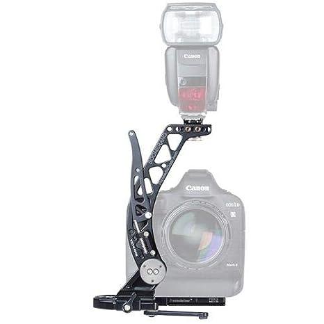 ProMediaGear BBGV2 Boomerang - Soporte de flash para cámara o maquinaria con empuñadura de batería, color negro: Amazon.es: Electrónica