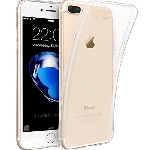 iPhone7/8 Plus 'Clearlite Series' Case by Smart Protection Crystal Clear Silicone Ultra-Thin Slim Fit Flexible TPU Gel Rubber TPU Case[Scratch Resistant]