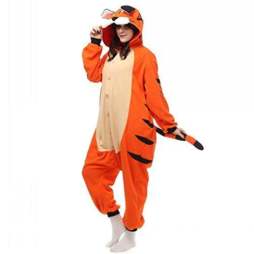 Unisex Adult Bengal Tiger Onesies Animal Costume Pajamas XL (Plus Size Squirrel Costume)