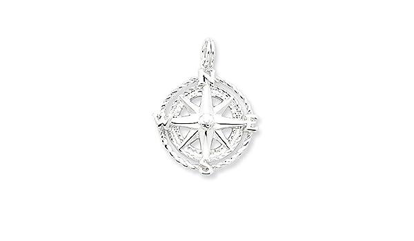 6 x Tibetan Silver Compass Nautical Pendant Charms