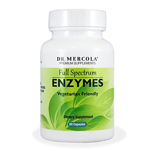 Dr Mercola Full Spectrum Enzymes - Suitable for Vegetarians - 90 Capsules - Proprietary Blend - Premium Dietary Supplement