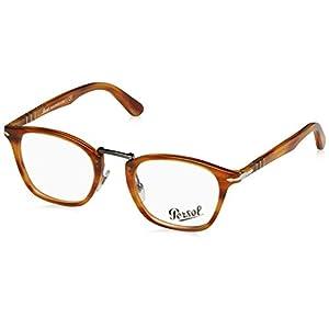 Persol PO3109V Eyeglass Frames 1021-49 - Striped Light Brown