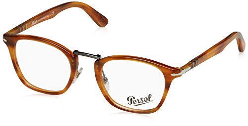 Persol PO3109V Eyeglass Frames 1021-49 - Striped Light - Eyeglasses Persol