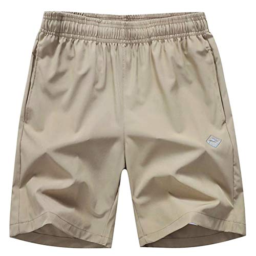 EXEKE Outdoor Men's Quick Dry Shorts Lightweight Hiking Shorts 252-Khaki/tag:2XL
