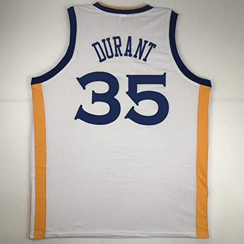 39cf2e7b467 Unsigned Kevin Durant Golden State White Custom Stitched Basketball Jersey  Size Men s XL New No Brands Logos