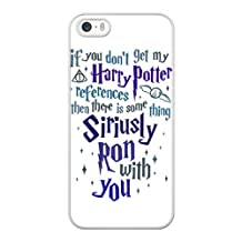 Harry Potter Quotes Phone Cover Case for apple iPhone 5/5S/SE White Hard Plastic Ultra Slim Case MCTAG289102