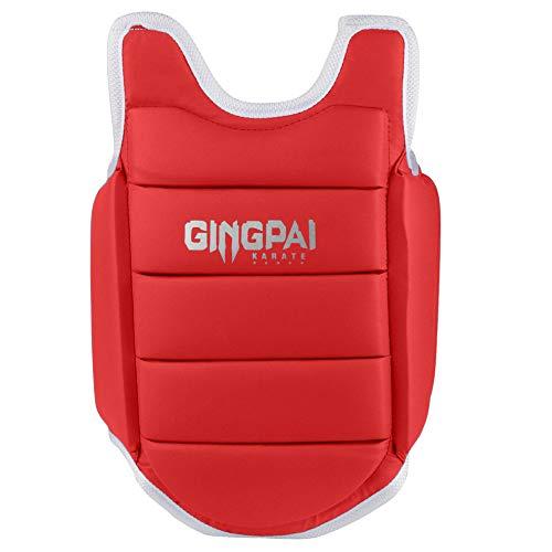 GINGPAI Taekwondo Karate Chest Guard Martial Arts Body Protector Target,WTF Reversible Solid Rib Shield Armour for…
