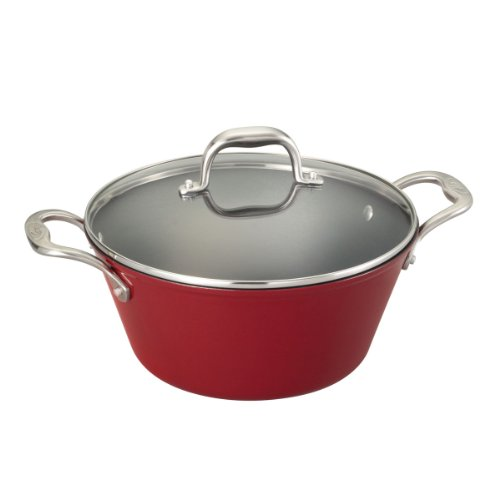 Guy Fieri Light Weight Cast Iron 5.5-Quart Dutch Oven, Red